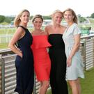 Press Eye - Belfast - Northern Ireland - 23rd June 2017 - Jenna Henry, Megan Beverland, Steph Campbell and Christine Watt pictured at the The Mencap Summer Festival of Racing Day 1 at Down Royal Racecourse. Photo by Kelvin Boyes / Press Eye.