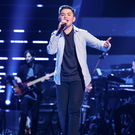 Nathan Johnston on stage for The Voice Kids UK