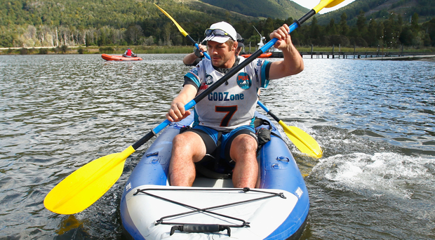Richie McCaw kayaks on Lake Rotoroa in Nelson, New Zealand. Photo: Phil Walter/Getty Images
