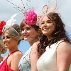 Press Eye - Belfast - Northern Ireland - 24th June 2017 - Donna McLaughlin, Brenda McCoy, Keely Brennan, Emma McMullan and Eileen McAuley pictured at the Magners Ulster Derby , Summer Festival of Racing at Down Royal Racecourse. Photo by Kelvin Boyes / Press Eye.