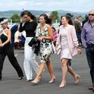 Press Eye - Belfast - Northern Ireland - 24th June 2017 - Racegoers pictured at the Magners Ulster Derby , Summer Festival of Racing at Down Royal Racecourse. Photo by Kelvin Boyes / Press Eye.