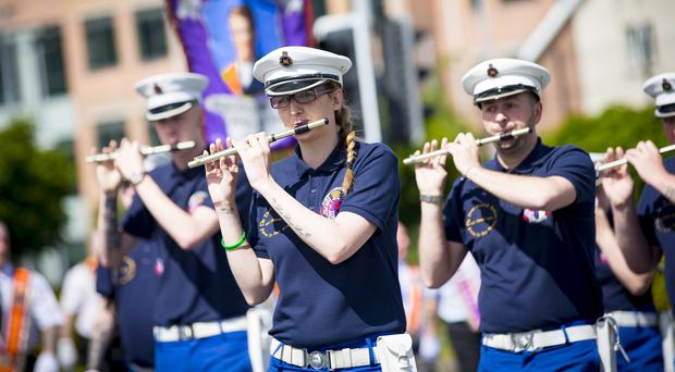 Annual Whiterock parade takes place after it's banned from crossing the peace line at Workman Avenue in west Belfast on June 24th 2017 (Photo by Kevin Scott / Belfast Telegraph)