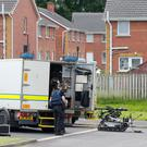 Press Eye Belfast - Northern Ireland 24th June 2017 The scene in the Lakeview Court area of Craigavon where an ongoing security alert is taking place. A police patrol discovered a suspicious object on Sunday morning. Picture by Jonathan Porter/Presseye.