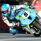 Unbeatable: Dean Harrison was just too quick for his rivals, winning all seven races and setting a new lap record on the woodland circuit