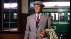 John Wayne at the station in The Quiet Man
