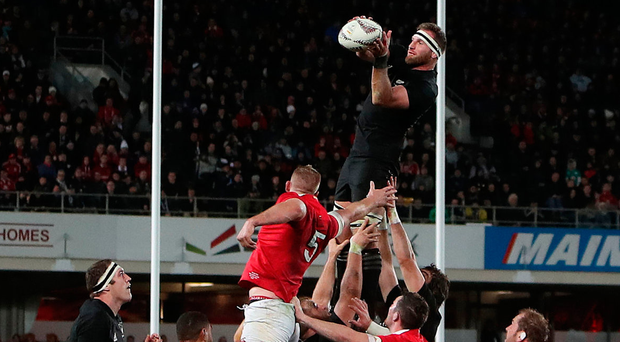 Tall order: Kieran Read of the All Blacks wins the lineout