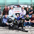 Councillor Tim Morrow, Mayor of Lisburn & Castlereagh City Council and Alderman James Tinsley, Chairman of Leisure and Community Development Committee, LCCC, pictured with MCE Ulster Grand Prix Clerk of the Course, Noel Johnston, Big Ed of MCE and road racers Michael Dunlop, Paul Jordan, Gary Dunlop, Peter Hickman, Dean Harrison, William Dunlop, Daley Mathison, Adam McClean and Dominic Herbertson at the launch of the 2017 MCE Ulster Grand Prix in Lisburn.