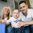 Happy family: Fianna Ward with parents Aurla and Feargal