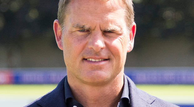 New face: Frank de Boer is unveiled as the new Crystal Palace manager yesterday