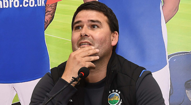 Managerial debut: David Healy meets the press ahead of Linfield's Champions League opener. Photo: Colm Lenaghan/Pacemaker