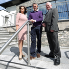 Allan Duncan of the Silverbirch Hotel (centre) with Danske Bank's Oonagh Murtagh and Robert McGill