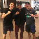 Top men: Michael and Jamie Conlan meet the great Roberto Duran in Brisbane