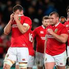 Nowhere to hide: Despite his best efforts, Lions captain Sam Warburton can't disappear in Eden Park. Photo: David Davies/PA