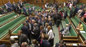 MPs voted down the motion to end the cuts and pay restraint by 323 votes to 309.