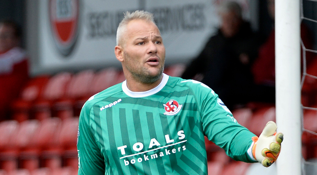 Net gains: Brian Jensen will make his Crusaders debut in the Europa League qualifying clash with FK Liepaja. Photo: Stephen Hamilton /Presseye