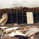 Pallets at Ravenscroft Car Park in East Belfast. [Photo: BBC]