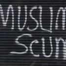 Graffiti daubed on the east Belfast restaurant. Pic: BBC