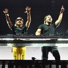 Swedish DJs Axwell and Ingrosso (Photo by Dimitrios Kambouris/Getty Images for Anheuser-Busch)