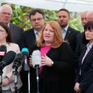 Alliance Party leader Naomi Long speaks to the media at Stormont, Belfast, as Stormont's political leaders are set to miss a deadline to restore powersharing in Northern Ireland after a scheduled Assembly sitting to nominate ministers was axed. Brian Lawless/PA Wire