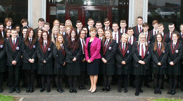 Pupils and staff of Abbey Community College