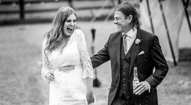 Sean Bean and Ashley Moore get married