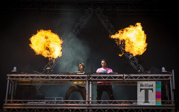 Axwell Λ Ingrosso on stage for the last night of Belsonic at the Ormeau Embankment, Belfast. Friday 30th June 2017 Liam McBurney/RAZORPIX