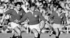 For kicks: Ulsterman Colin Patterson in action for the Lions in South Africa in 1980