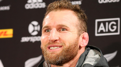 Raring to go: Kieran Read fires out warning yesterday