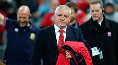 Lions coach Warren Gatland was a happy man at full-time.