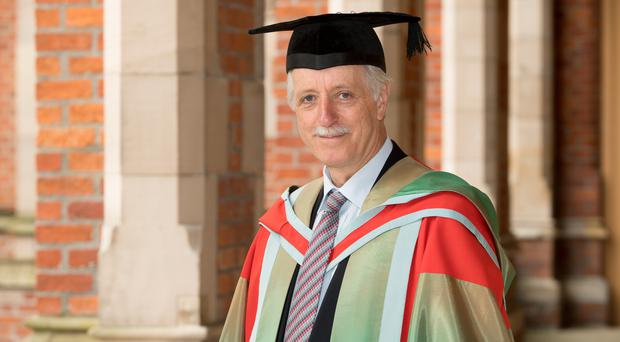 Professor Sir John Pethica FRS DSc has received an Honorary Degree from Queen's University Belfast for services to science