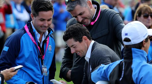 Rory McIlroy might even get his phone out during Irish Open practice to try and bag a big prize.