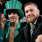 Good friends: Michael Conlan and Conor McGregor