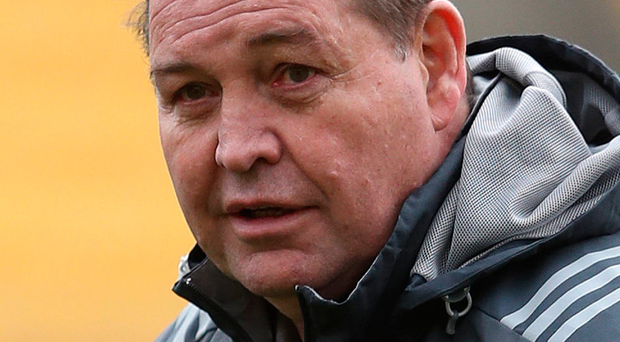 Feeling heat: Steve Hansen needs to win after Sonny Bill Williams' red card meant the All Blacks needed to reorganise