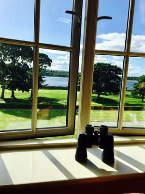 A room with a view at the Lough Erne Resort, Co Fermanagh.