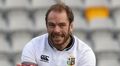 Back at it: Alun Wyn Jones recovered from a poor opener