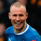 Decisive moment: Gers' Kenny Miller hit the first-leg winner