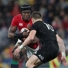 Have some: Lock Maro Itoje in action for the British & Irish Lions against the All Blacks