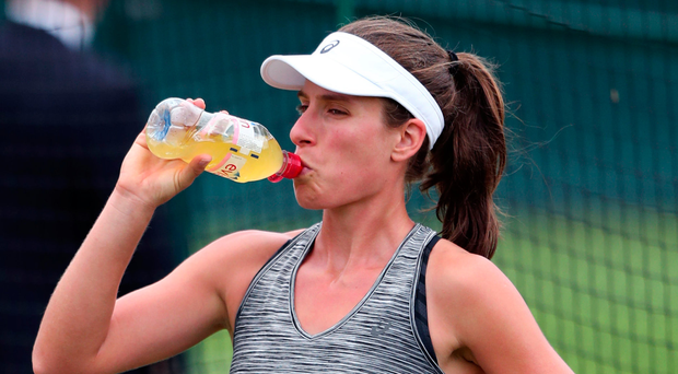 Johanna Konta 'recovering really well' after suffering 'traumatic fall'