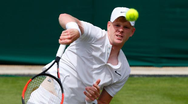 Big chance: Kyle Edmund is out to really make his mark at Wimbledon following his first victory at SW19