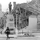 The aftermath of the 1987 IRA bombing of the Remembrance Day service in Enniskillen