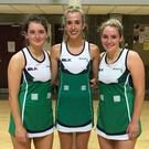 Net gains: NI Under-21 stars Michelle Magee, Rachel Moore and Emma Magee