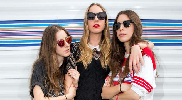 Rich vocals: American sister act Alana, Este and Danielle Haim are back with new offering Something To Tell You