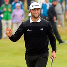 Big fan: Jon Rahm has hailed the Portstewart course. Photo: Niall Carson/PA
