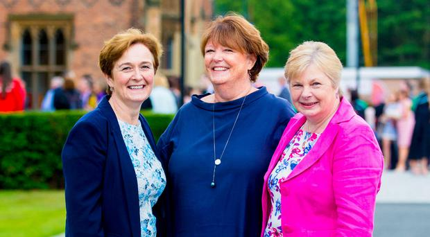 Tight bond: Lindy McDowell (centre) with her sisters Heather Taylor and Roberta Ferson
