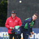 Back in action: Andy McBrine is fit to bowl for Donemana in the Bank of Ireland Senior Cup semi-final