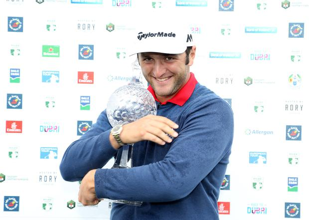 Dubai Duty Free Irish Open Hosted by the Rory Foundation at Portstewart Golf Club, Northern Ireland. Jon Rahm wins his first European Tour victory. 9 July 2017 - Picture by Darren Kidd /Press Eye.