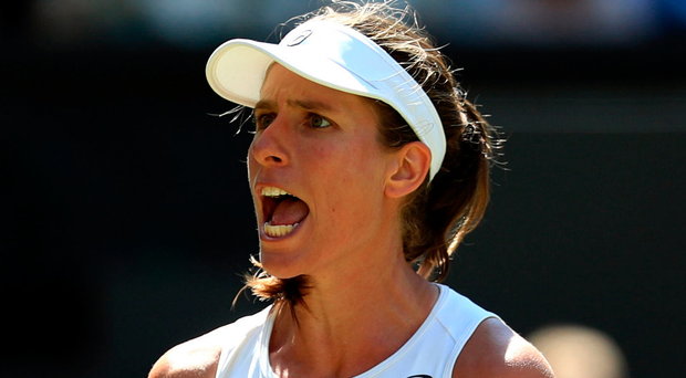 Fine form: Johanna Konta has been backed to hold her nerve in the face of fresh challenges at Wimbledon