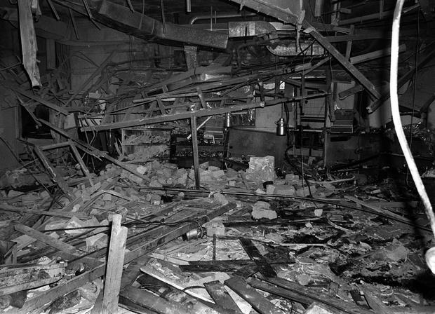 File photo of the wreckage left at the Mulberry Bush pub in Birmingham after a bomb exploded. PA Wire