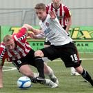 Mark Griffin, here in action for Dundalk, has signed for Glenavon.