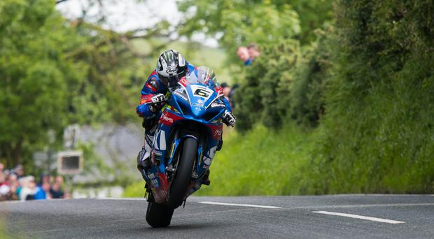Powering ahead: Michael Dunlop is aiming for success in the opening race of the Southern 100 on the Isle of Man